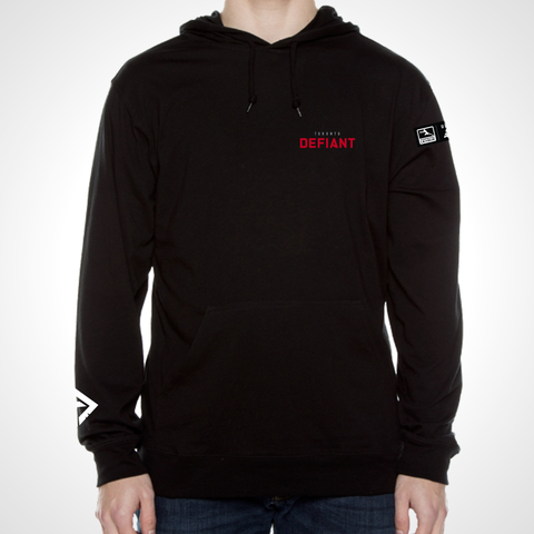 Toronto Defiant ULT Long Sleeve Hooded Tee - Black