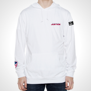 Washington Justice ULT Long Sleeve Hooded Tee - White