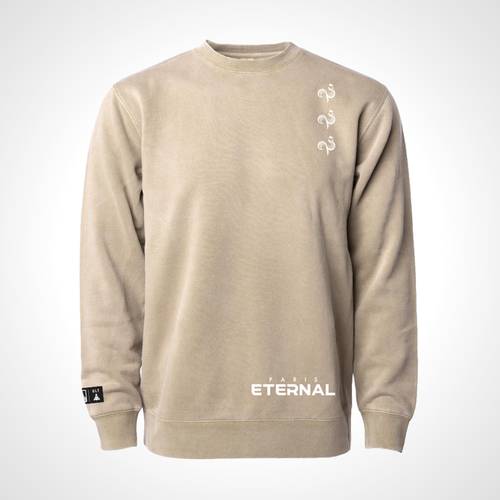 Paris Eternal ULT Crew Neck Fleece - Sandstone