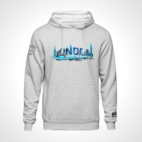 London Spitfire ULT Expressionist Pullover Hoodie - Heather Grey