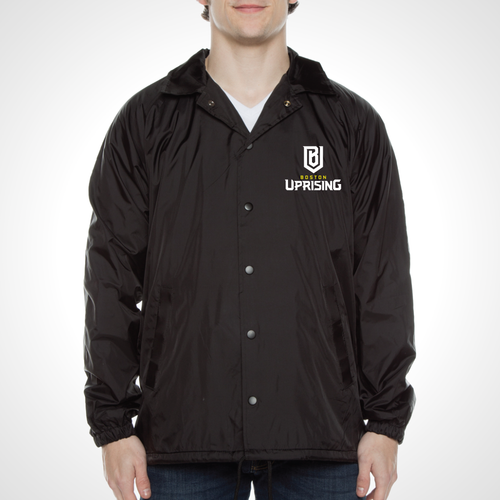 Boston Uprising ULT Nylon Coaches Jacket - Black