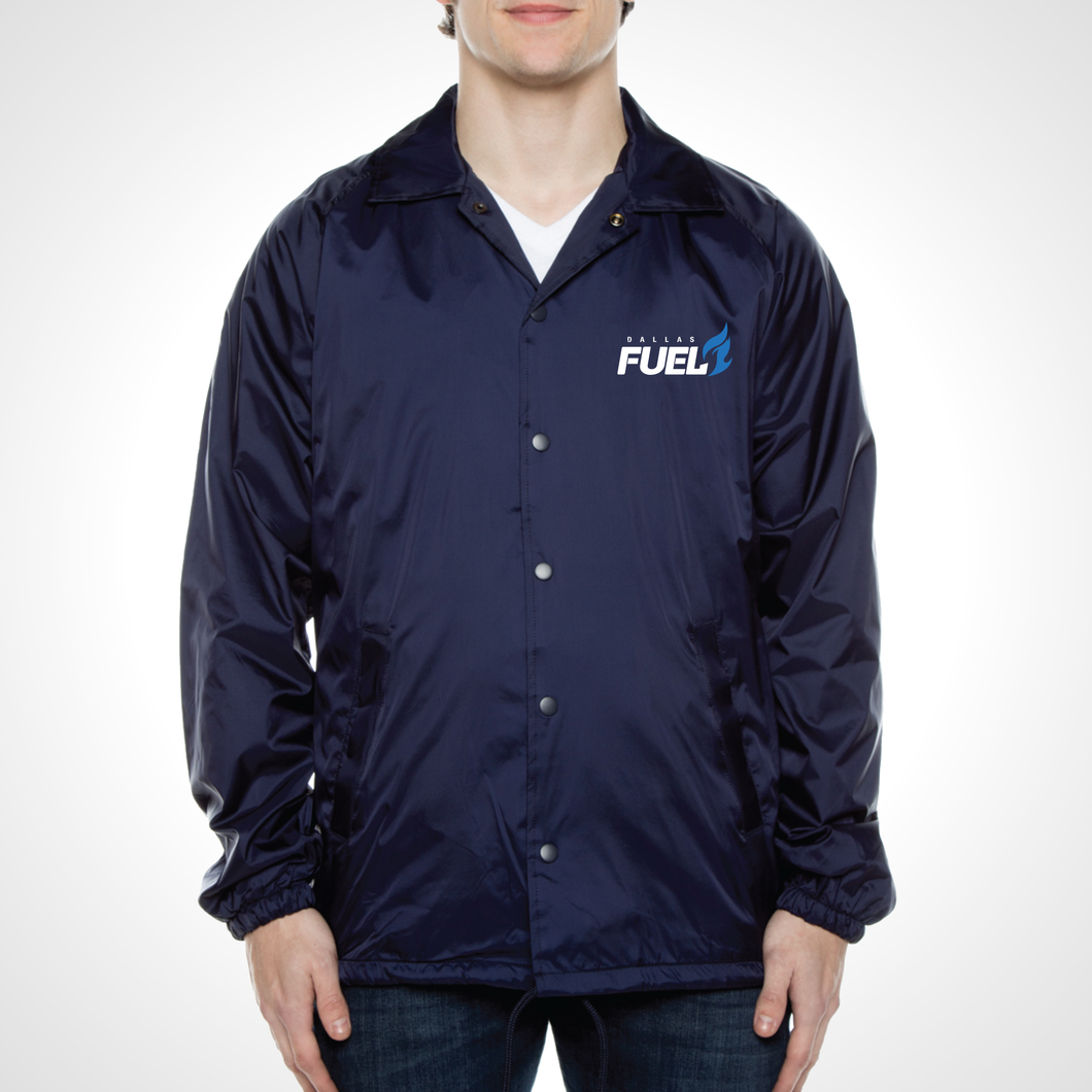 Dallas Fuel ULT Nylon Coaches Jacket - Deep Navy