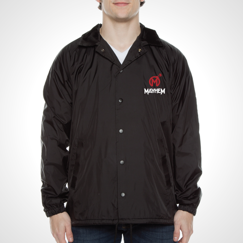 Florida Mayhem ULT Nylon Coaches Jacket - Black