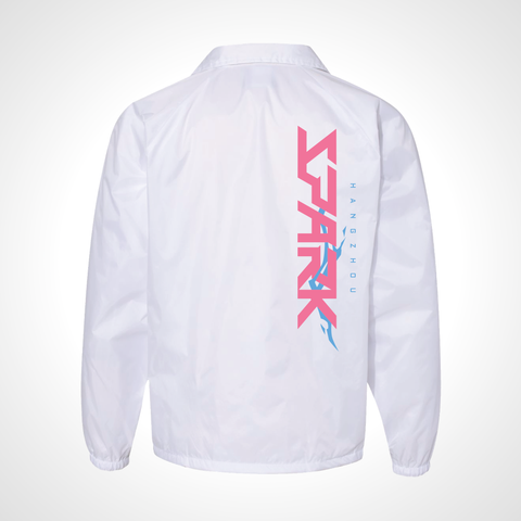 Hangzhou Spark ULT Nylon Coaches Jacket - White