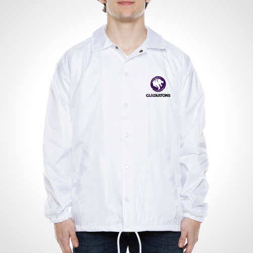 Los Angeles Gladiators ULT Nylon Coaches Jacket - White
