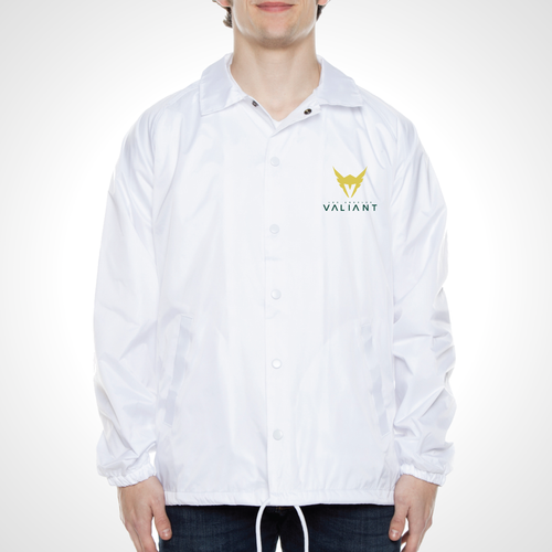 Los Angeles Valiant ULT Nylon Coaches Jacket - White