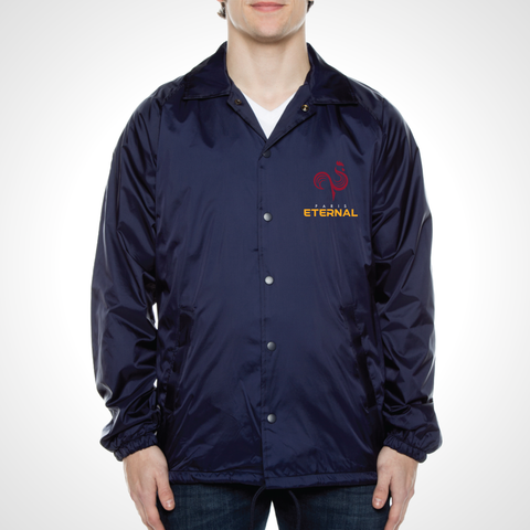 Paris Eternal ULT Nylon Coaches Jacket - Deep Navy