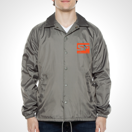 San Francisco Shock ULT Nylon Coaches Jacket - Grey