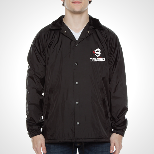 Shanghai Dragons ULT Nylon Coaches Jacket - Black