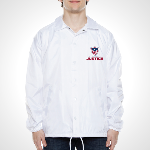 Washington Justice ULT Nylon Coaches Jacket - White