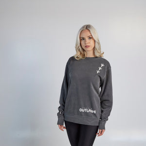 Houston Outlaws ULT Crew Neck Fleece - Black
