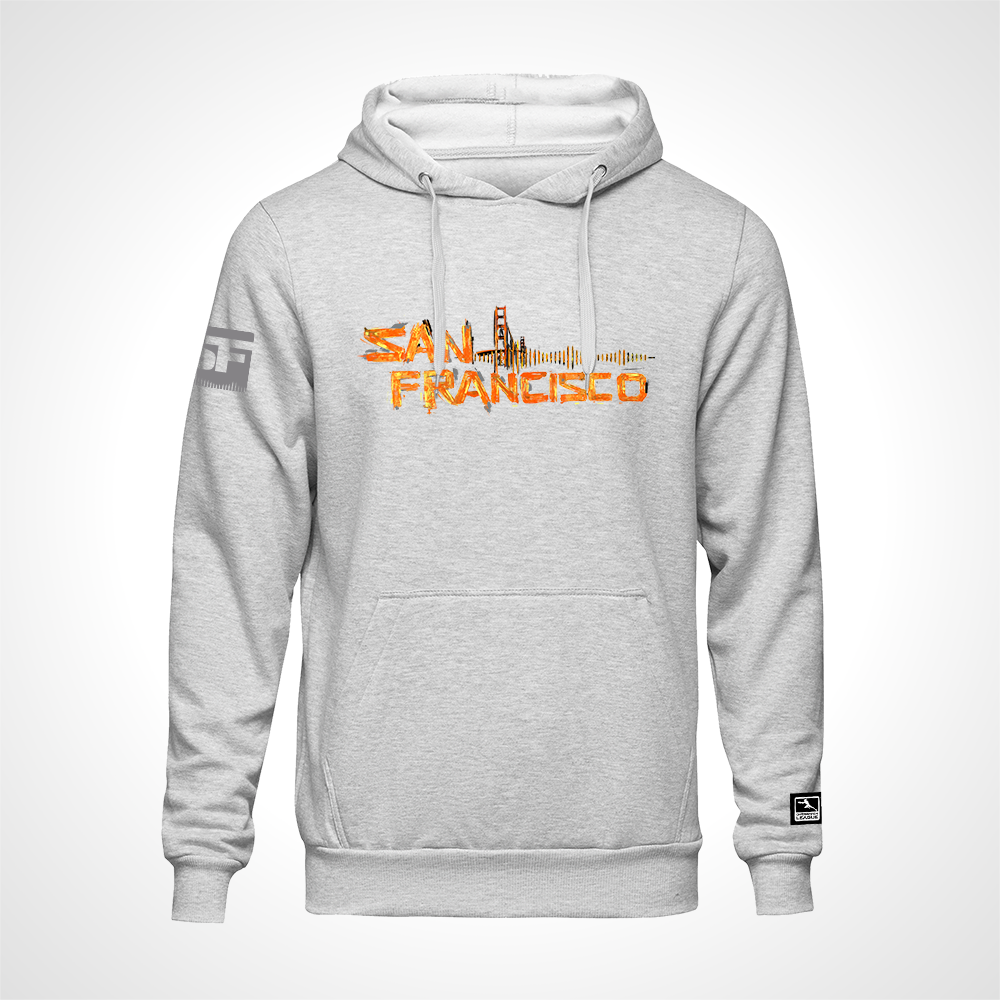 San Francisco Shock ULT Expressionist Pullover Hoodie - Heather Grey