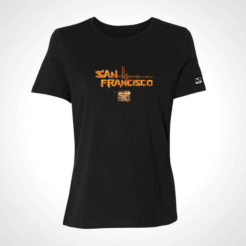 San Francisco Shock ULT Expressionist Women's S/S Tee - Black