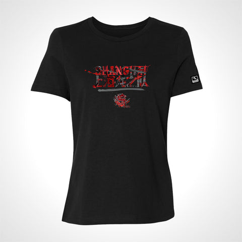 Shanghai Dragons ULT Expressionist Women's S/S Tee - Black