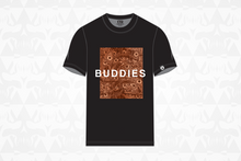 Load image into Gallery viewer, Buddies Tee Black/Orange