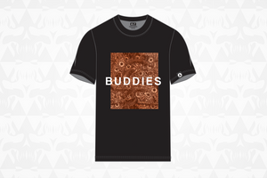 Buddies Tee Black/Orange