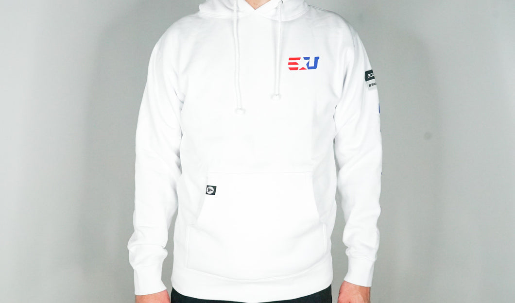 EUNITED EU HOODED FLEECE WHITE