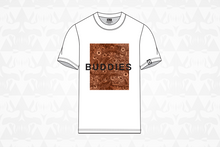 Load image into Gallery viewer, Buddies Tee White/Orange