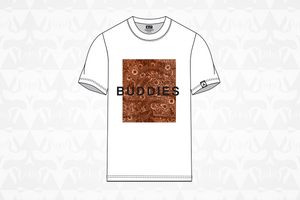 Buddies Tee White/Orange