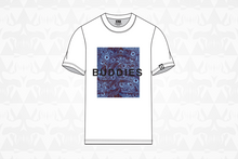 Load image into Gallery viewer, Buddies Tee White/Blue