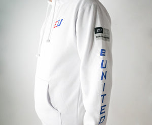 EUNITED EU HOODED FLEECE WHITE side