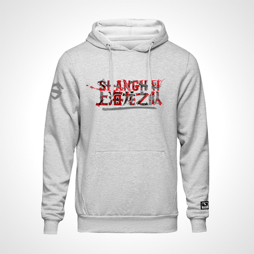 Shanghai Dragons ULT Expressionist Pullover Hoodie - Heather Grey