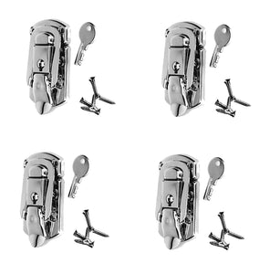 4 Pack Penn Elcom L1094N  Locking Briefcase/Draw Latch Nickle Finish & Screws