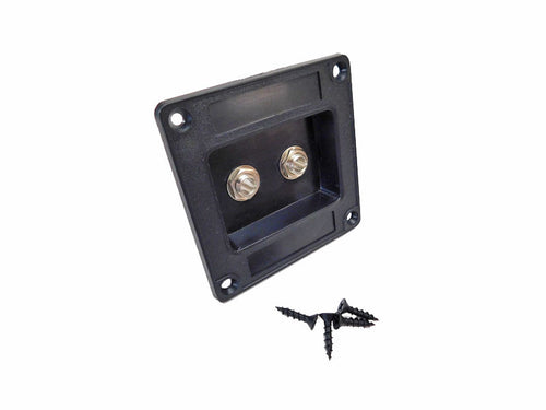 Recessed Dish Speaker Cabinet Jack Plate Two Switchcraft #11's Mounting Screws