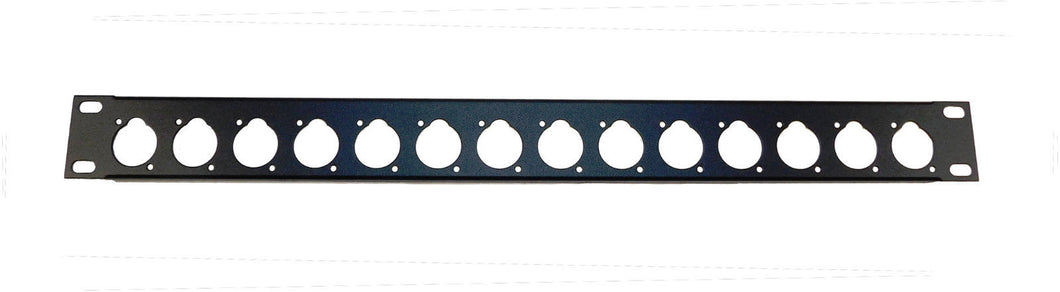 1U Procraft 16 ga. Formed Aluminum Rack Panel - Pre-Punched for 14 XLR's - Black