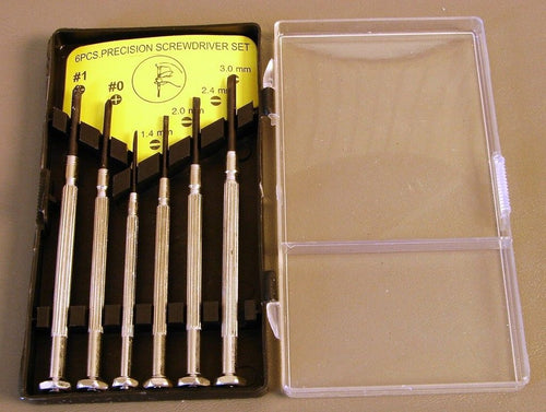 6 PIECE PRECISION SCREWDRIVER SET    SD101