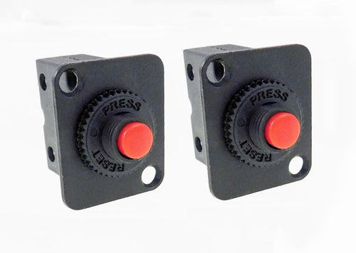 2 Pack Procraft D-Plate With 10A Circuit Breaker - Overload Protector D-MR1-10A
