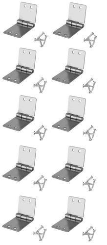 10 Pack Penn Elcom 1535 Small Butt Hinge with Screws - Zinc Finish