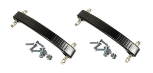 2 Black Rubber Amp Strap Handle Fender Dog Bone Type Replacement W/Mtg Hardware