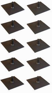 "10 Pack Procraft 6"" Floor Plate 1/2"" Par Can Uplight Base      BP-6-1/2-B"