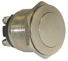 Load image into Gallery viewer, SPST-N.O. Push Button Switch, Polished Metal     16093 SW