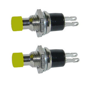 2 Pack SPST Normally Open Momentary Push Button Switch Yellow     32728Y
