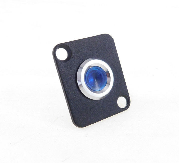 Procraft D-Plate With 12mm 115v LED Indicator Lamp Blue   D-12ZsD.A.L-115-B