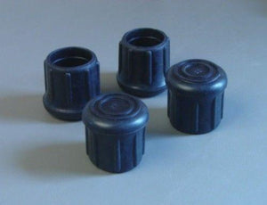"4 Pack 1-1/4"" Rubber Tips- Cane, Crutch or Chair       CT-1.25-B"