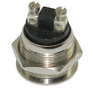 SPST-N.O. Push Button Switch, Polished Metal     16093 SW