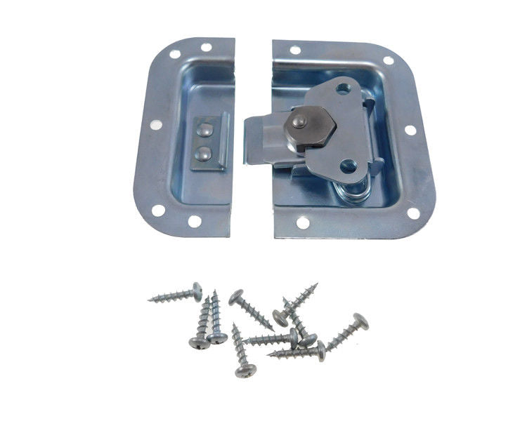 RH Zinc Finish Medium Recessed Butterfly Latch - Rack & Pedal Board Cases  A3020