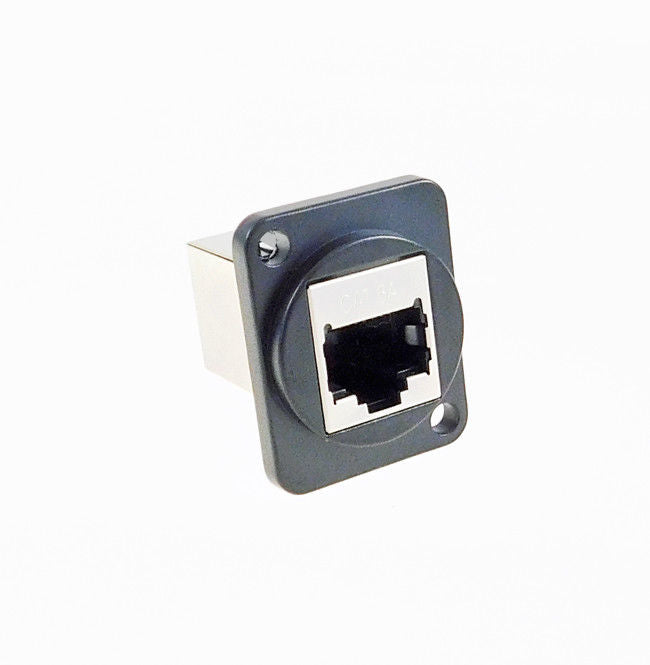 Panel Mount D type XLR CAT6E Feedthru W/ Shield - metal connector   LY-513-S