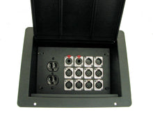 Load image into Gallery viewer, ProCraft Pro Audio Recessed Pocket Floor Box.1 AC Duplex 12 Channels Any Configs
