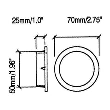 "Load image into Gallery viewer, 2 Pack Penn Elcom  2"" Plastic Port Trim Rings  M1531"