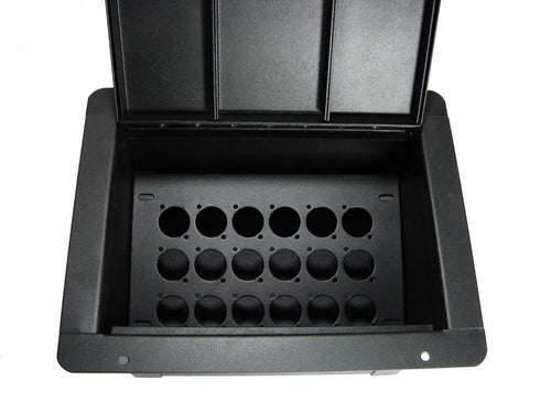 ProCraft Pro Audio Standard Plus Recessed Pocket Floor Box.18 D Mount Openings