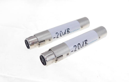 2 PACK PROCRAFT INLINE ATTENUATOR XLR FEMALE TO MALE ADAPTOR-20dB PAD SVP559-20