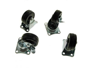 "Set of Four Procraft 2"" Casters-2 Swivel W/Brake and 2 Rigid     SC-2B/RC-2"