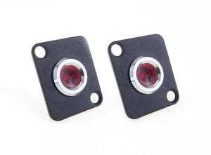 2 Pack Procraft D-Plate With 12mm 115v LED Indicator Lamp Red D-12ZsD.A.L-115-R