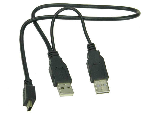USB Adapter Cable Type A Males to Mini B Male       30341