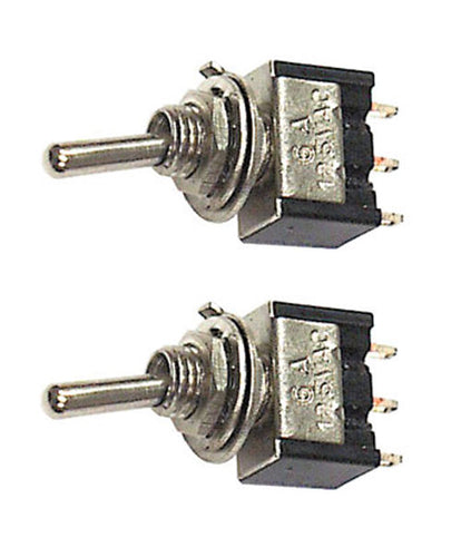 Pair Miniature SPDT Toggle Switches 2 Position ON-ON 25006