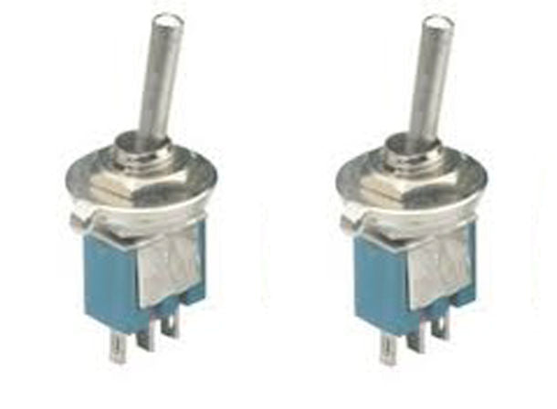 2 Pack Sub-Miniature SPDT On-On Toggle Switches 2 Position ON-ON SW102
